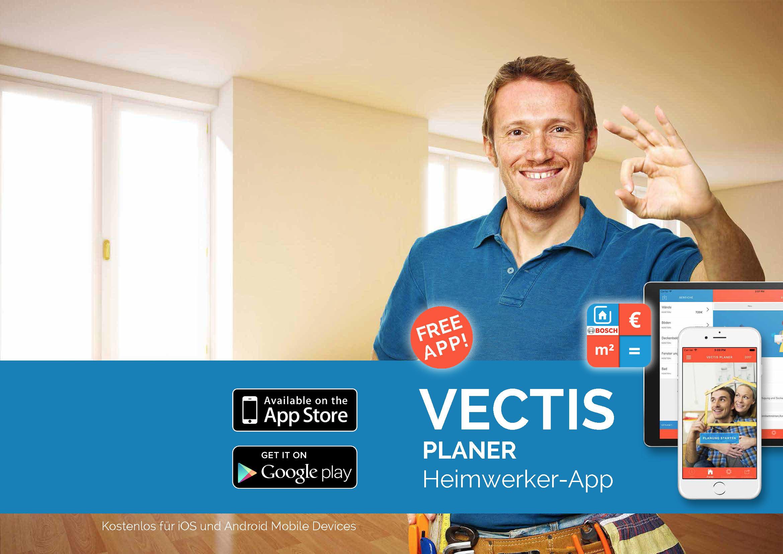 Kostenloser Download der VECTIS Planer App mit BOSCH Smart Home